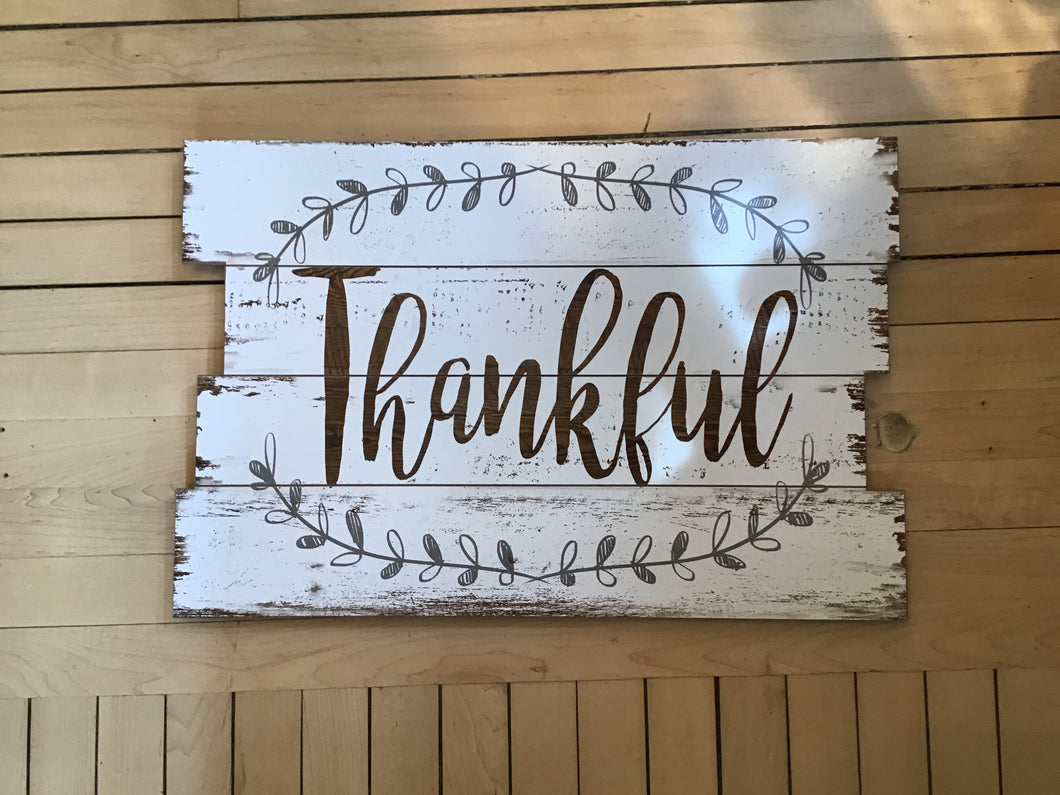 Large Thankful Sign