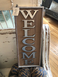 Hanger welcome sign