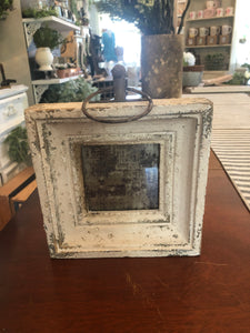 Small white washed picture frame