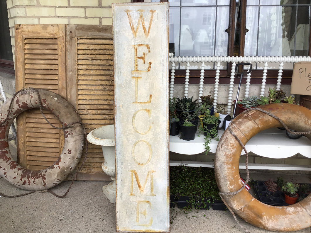 Rusty Welcome Sign 47.5 inch