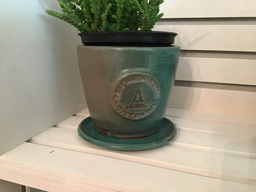 Small Teal Port Planter