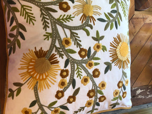 Yellow Embroideded Pillow
