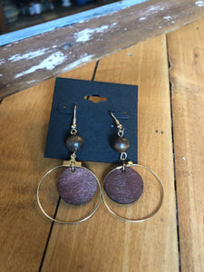 Wood and Metal Earrings