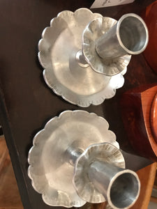 Vintage aluminum candle holders