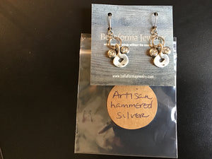 Bellaforma Artisan hammered silver earrings