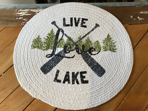 Live Love Lake Braided Placemat