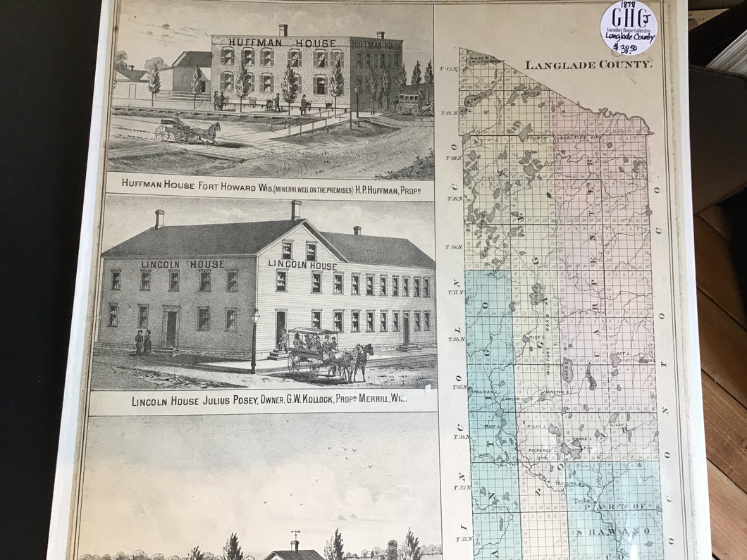 Map Langlade County