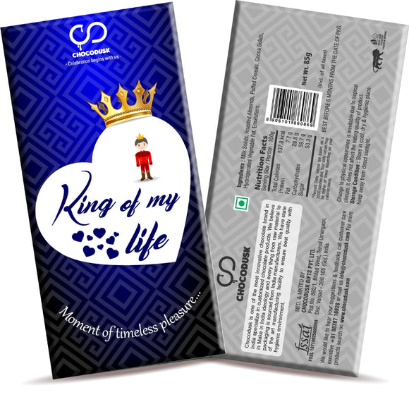 King of My Life Chocolate Bar