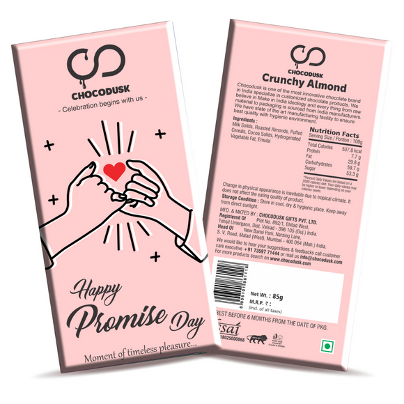 Happy Promise Day Chocolate Bar
