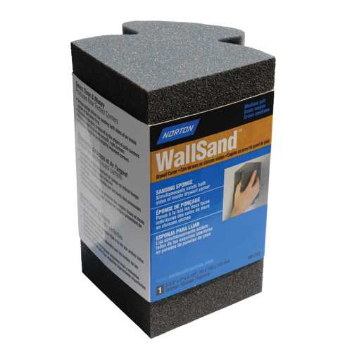 Norton WallSand Drywall Corner Sanding Sponge - Medium (100-Grit)