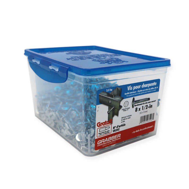 Grabber Wafer Framing Screws - Drill Point - Clear Zinc