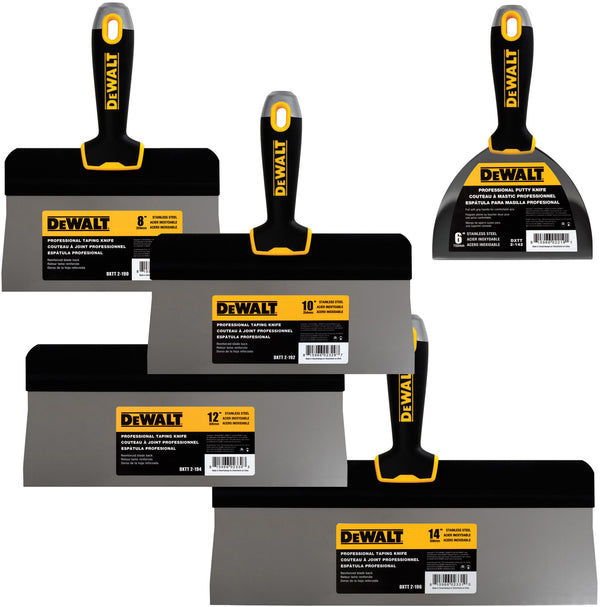 "DeWalt Stainless Steel ""Big Back"" Taping Knife Set DXTT-3-172"