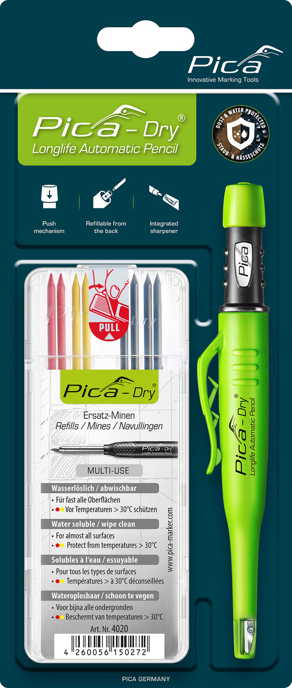 Pica Dry Pen and Refill Bundle