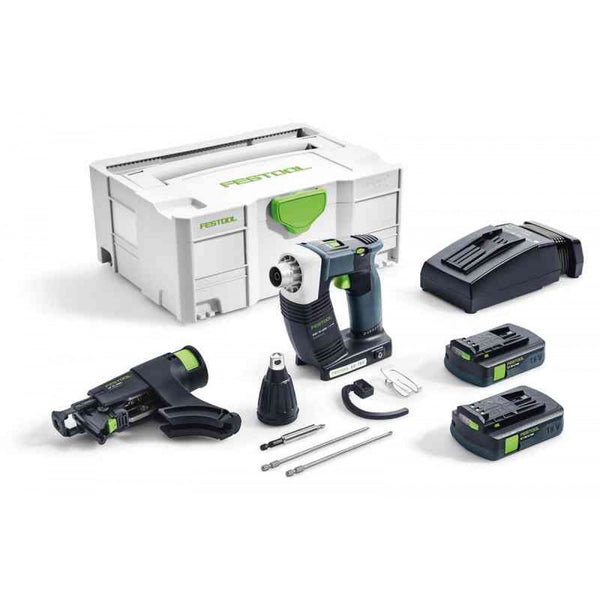 Festool DWC 18 Cordless Drywall Screwdriver Bluetooth 3.1Ah PLUS