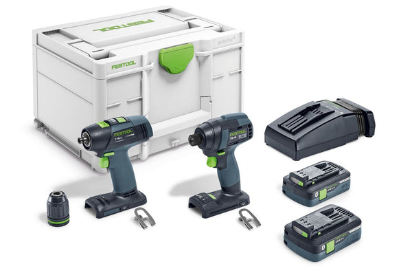 Festool TID18 Impact Driver and T18 Drill Combo Kit
