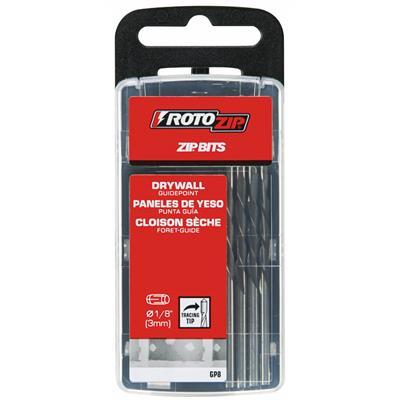 "RotoZip 1/8"" Drywall Guidepoint Zip Bits"