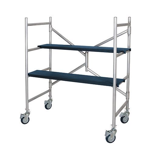 "MetalTech ALU Series™ 4? Mini Scaffold with 4"" Casters"