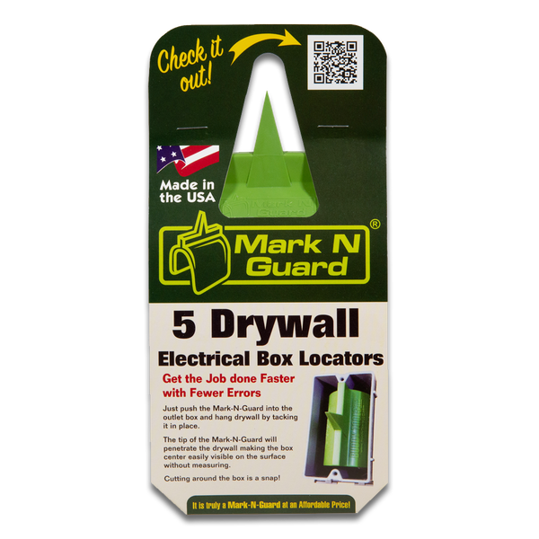 Buddy Tools Mark N Guard - Professional Drywall Electrical Box Locator Tool (Pack of 5)