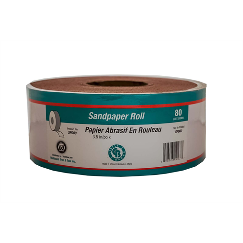 Circle Brand 3-1/2″ x 75' Paper Backed Sandpaper