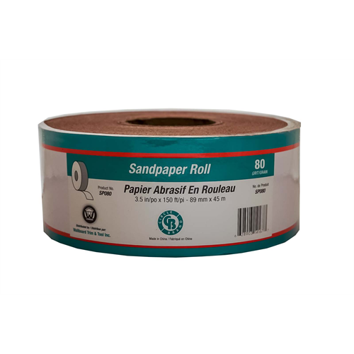 Circle Brand 3-1/2″ x 150' Paper Backed Sandpaper