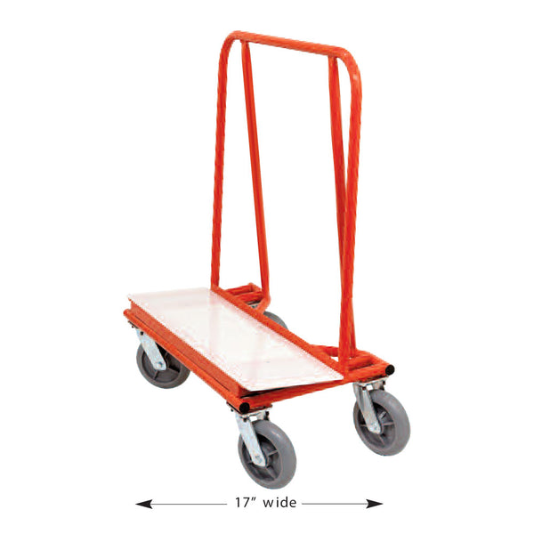 Circle Brand Residential Drywall Dolly w/ 3 Swivel & 1 Locking Casters