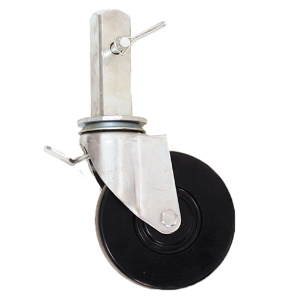 "Circle Brand 5"" Square Stem Caster for Rolling Tower Scaffolds"