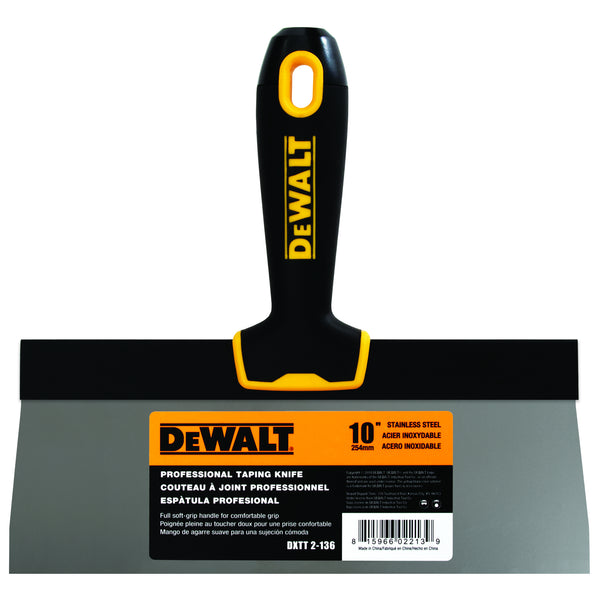 DeWalt Stainless Steel Taping Knife – Soft Grip Handle