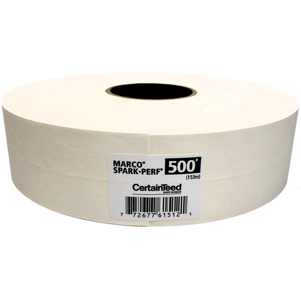 "CertainTeed Marco Spark-Perf Paper Tape 2-1/16"" x 500'"
