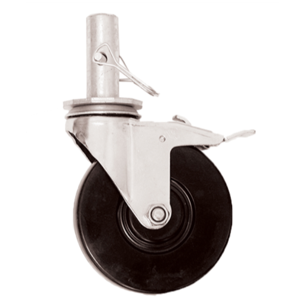 "Circle Brand 5"" Round Stem Caster for 6' Steel Folding Scaffold"