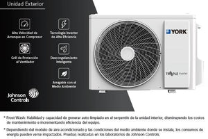 Mini split de lujo triple inverter YORK