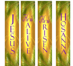 EASTER Palms Wall Banners
