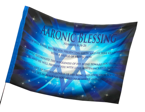 Aaronic Blessing Worship Flag