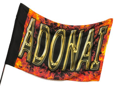 Adonai Fire Worship Flag