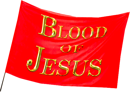 Blood of JESUS Worship Flag