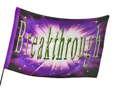 Breakthrough (Purple) Worship Flag