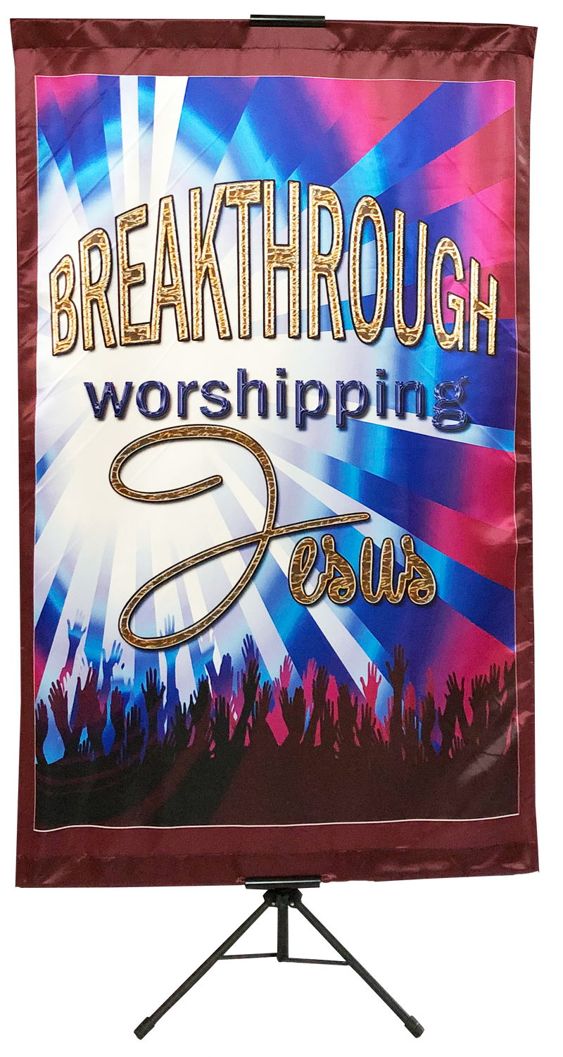 Breakthrough Worshipping Jesus Vertical Banner