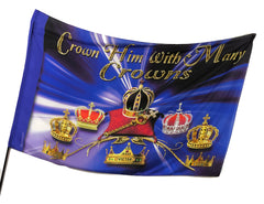 Crown Him with Many Crowns Worship Flag