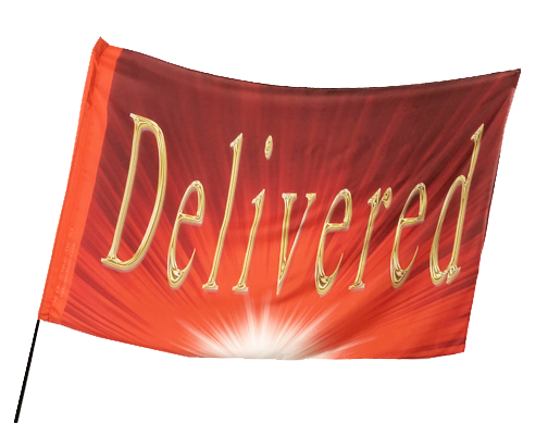 Delivered Worship Flag