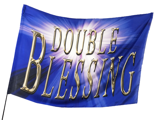 Double Blessing Worship Flag