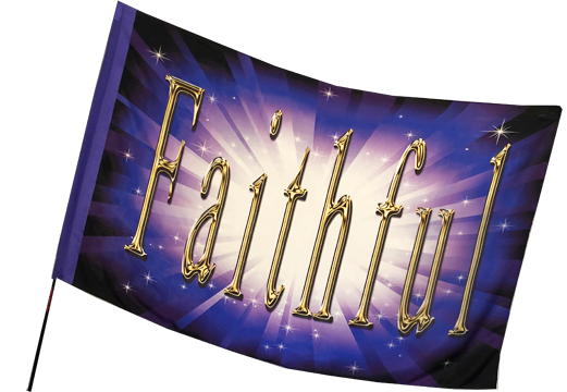 Faithful Purple Worship Flag