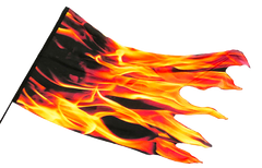 Fire Flames Silk Worship Flag