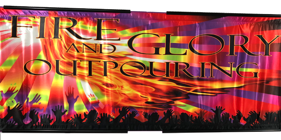 Fire and Glory Horizontal Wall Banner