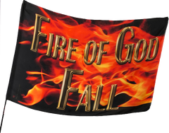 Fire of God Fall Worship Flag