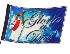Spanish Gloria a Dios Worship Flag