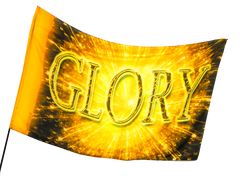 Glory Gold Worship Flag
