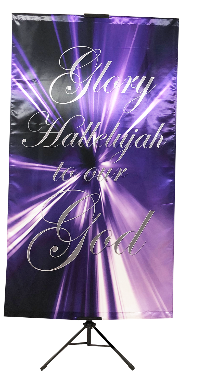 Glory Hallelujah (purple) Wall Banner