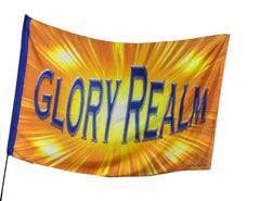 Glory Realm Worship Flag
