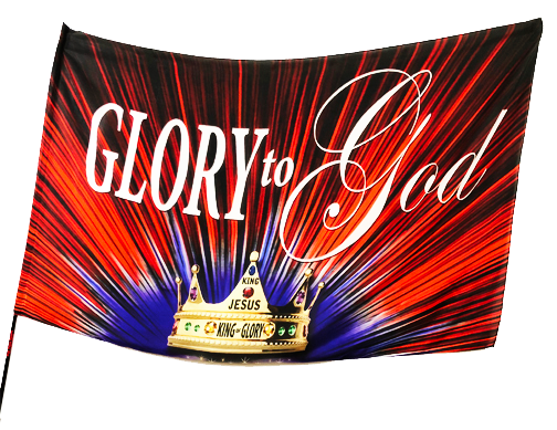 Glory to God Worship Flag