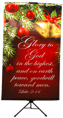 CHRISTMAS- Glory To God (Bells) Wall Banner