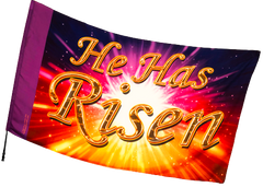 He is Risen Worship Flag
